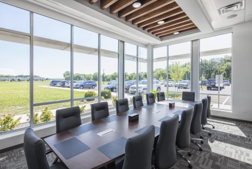 Commercial workplace conference room